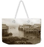 Lewis Fish Market Selected Fresh Fish And Swains Fish Market Monterey 1929 Weekender Tote Bag