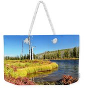 Lewis River Fall Weekender Tote Bag