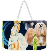 Lhasa Apso Art - The Seven Year Itch Movie Poster Weekender Tote Bag