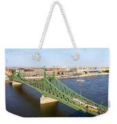 Liberty Bridge And Budapest Skyline Weekender Tote Bag