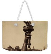 Liberty Torch At Philadelphia For Us Centennial 1876 Weekender Tote Bag