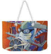 Librarian Pilot Weekender Tote Bag by Marina Gnetetsky
