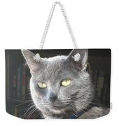 Library Cat Weekender Tote Bag