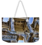 Library Of Celsus Weekender Tote Bag by David Smith