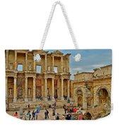 Library Of Celsus In Ephesus-turkey Weekender Tote Bag