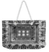Library Of Congress Main Hall Ceiling Bw Weekender Tote Bag