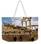 Library On The Pergamum Acropolis-turkey Weekender Tote Bag