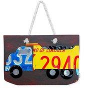 License Plate Art Dump Truck Weekender Tote Bag