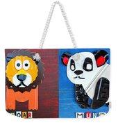 License Plate Art Jungle Animals Series 1 Weekender Tote Bag