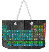 License Plate Art Recycled Periodic Table Of The Elements By Design Turnpike Weekender Tote Bag