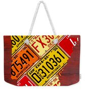 License Plate Map Of Arkansas By Design Turnpike Weekender Tote Bag by Design Turnpike