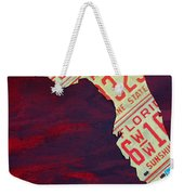 License Plate Map Of Florida By Design Turnpike Weekender Tote Bag