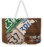 License Plate Map Of Minnesota By Design Turnpike Weekender Tote Bag
