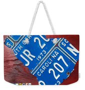 License Plate Map Of South Carolina By Design Turnpike Weekender Tote Bag