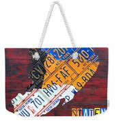 License Plate Map Of Staten Island New York Nyc Weekender Tote Bag