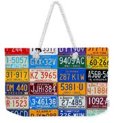 License Plates Of The Usa - Our Colorful American History Weekender Tote Bag
