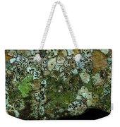 Lichen On Rock In Suck Creek Weekender Tote Bag