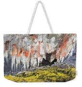 Lichen On Sea Beach Rock Weekender Tote Bag