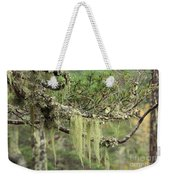 Lichens On Tree Branches In The Scottish Highlands Weekender Tote Bag