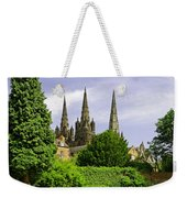 Lichfield Cathedral From The Garden Weekender Tote Bag
