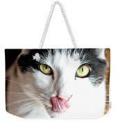 Licking His Chops Weekender Tote Bag