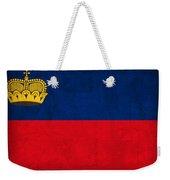 Liechtenstein Flag Vintage Distressed Finish Weekender Tote Bag