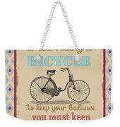 Life-bicycle Weekender Tote Bag