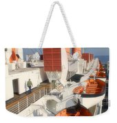 Life Boats 01 Queen Mary Ocean Liner Port Long Beach Ca Weekender Tote Bag