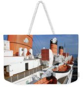 Life Boats 02 Queen Mary Ocean Liner Port Long Beach Ca Weekender Tote Bag