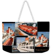 Life Boats Collage Queen Mary Ocean Liner Long Beach Ca Weekender Tote Bag