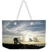Life Guard Tower And Jetty At Dawn 9-27-14 By Julianne Felton Weekender Tote Bag
