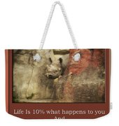 Life Is Moments Of Camouflage Weekender Tote Bag