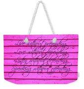 Life Lessons Weekender Tote Bag
