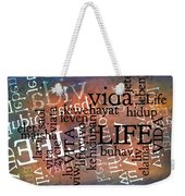 Life Letters Two Weekender Tote Bag
