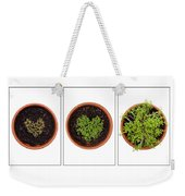 Life Of Cress On White Weekender Tote Bag