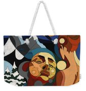 Life Of Roy Painting With Hidden Pictures Weekender Tote Bag
