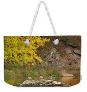 Life On The River Square Weekender Tote Bag by Bill Wakeley