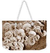 Life On The Rocks In Sepia Weekender Tote Bag