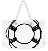 Life Preserver In Black And White Weekender Tote Bag