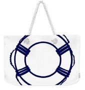 Life Preserver In Navy Blue And White Weekender Tote Bag