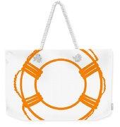 Life Preserver In Orange And White Weekender Tote Bag