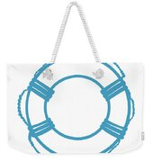 Life Preserver In Turquoise And White Weekender Tote Bag