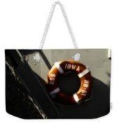 Life Ring Uss Iowa Battleship Sepia Weekender Tote Bag