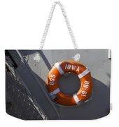 Life Ring Uss Iowa Battleship Weekender Tote Bag