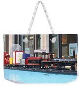 Life Size Toy Train Set In Nyc Weekender Tote Bag