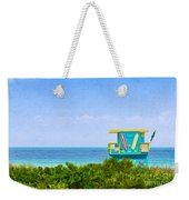 Lifeguard Station In Miami Weekender Tote Bag