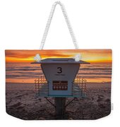 Lifeguard Tower At Dusk Weekender Tote Bag by Peter Tellone