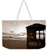 Lifeguard Tower Sunrise In Sepia Weekender Tote Bag