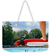 Lifeguard Watches Swimmers Weekender Tote Bag