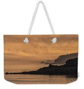 Lifting Fog At Sunrise On Campobello Coastline Weekender Tote Bag